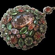 SCHREINER Rare Large Reversible Clustered Stones Pendant