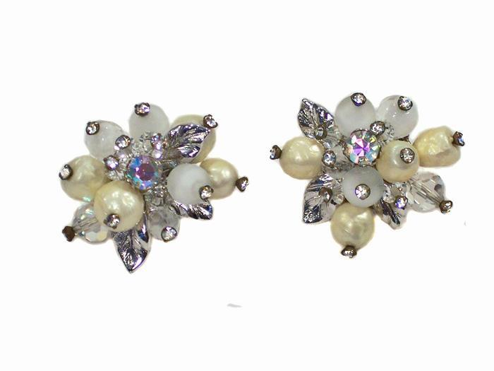 Vintage Vendome Pearl Earrings