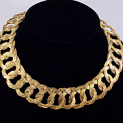 Vintage Woven Goldwire Collar Necklace
