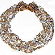 Stunning 5 strand Swarovski Crystal Bead Necklace