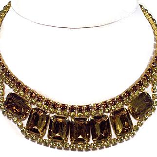 Juliana Topaz & Jonquil Yellow Chunky Necklace