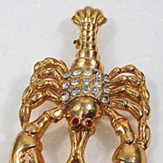 Sizzling Lobster Brooch