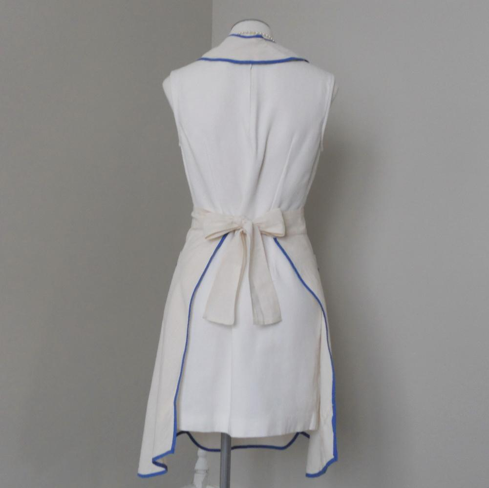 White apron pinafore - Roll Over Large Image To Magnify Click Large Image To Zoom