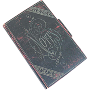Authentic Victorian Black and Red Note Book Pad Ephemera