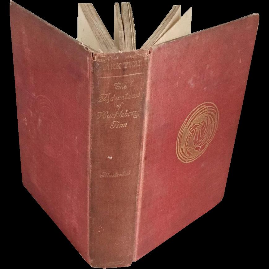 Vintage Book The Adventures of Huckleberry Finn by Samuel Clemmons Mark Twain 1896