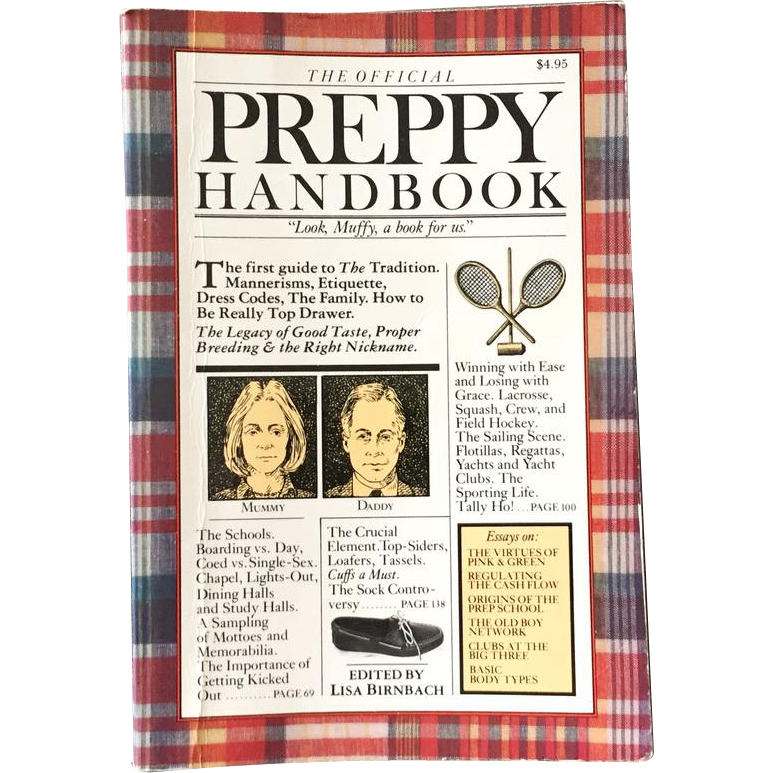 Vintage 1980 Book The Official Preppy Handbook by Lisa Birnbach