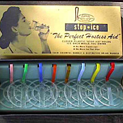 Vintage 1950s Barware Novelty Gift Plastic Stop Ice in Original Box