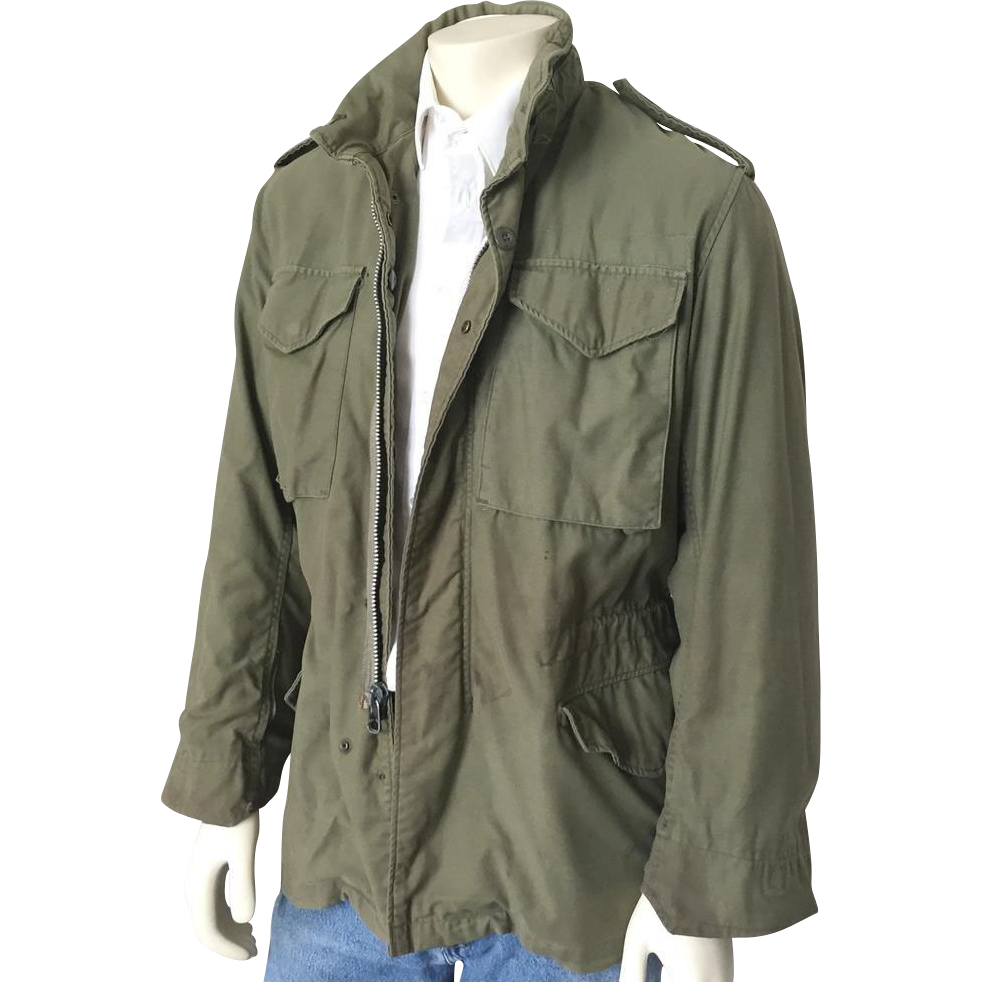 Vintage 1960s 1970s Fatigue Green Vietnam Conflict War Military Field Jacket S M