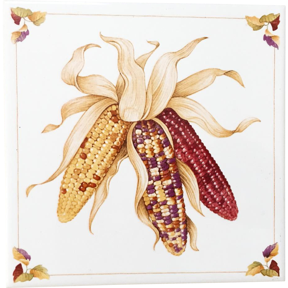 Vintage 1984 Avon Shades of Autumn Fall Tile Indian Corn