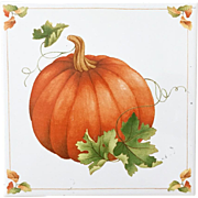 Vintage 1984 Avon Shades of Autumn Fall Tile Pumpkin
