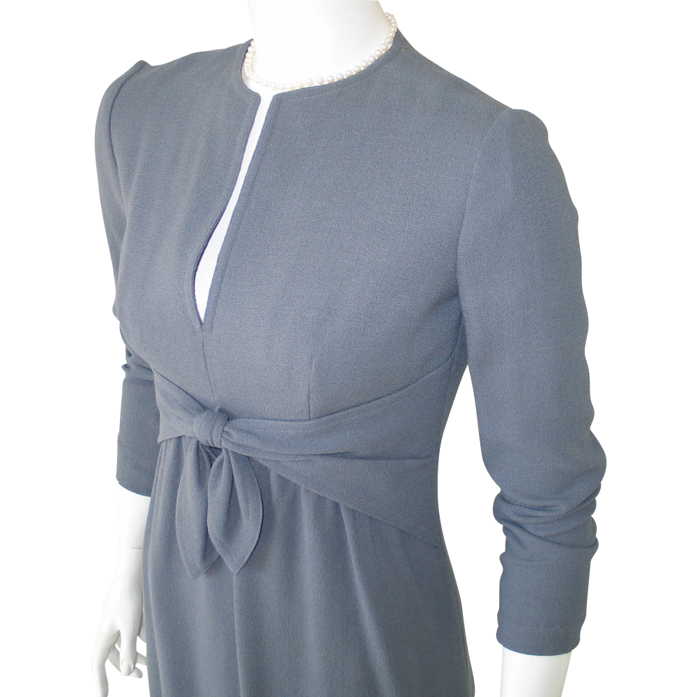 Vintage 1970s Morty Sussman for Mollie Parnis American Designer Dress XS S