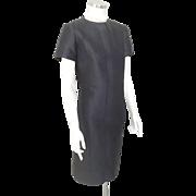 Vintage 1960s Sculpted Little Black Dress by B Siegel Co NOS M