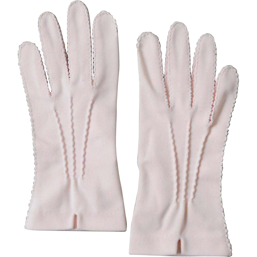 Authentic Vintage 1940s Blush Pink Hansen Shorties Gloves 7