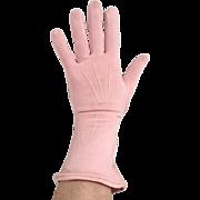 Vintage 1940s Soft Rose Pink Van Raalte Fauntex Gloves