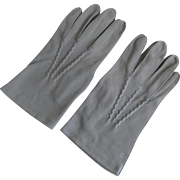 Vintage Gray Dress Gloves for Men BACMO Size 9