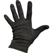 Vintage 1960s Short Black Ladies Cafe Gloves