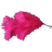 Vintage 1930s Bright Hot Pink Feather Spray Fascinator Hat Supply Halloween Costume Flapper