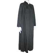 Vintage 1950s 1960s Black Priest's Robe Choir Robe Halloween Costume L XL