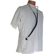 Vintage 1960s Doctor Ben Casey Medical Uniform Shirt Halloween Costume M L XL