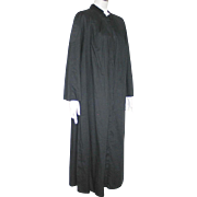 Vintage 1960s Black Priest's Robe Choir Robe Halloween Costume L XL