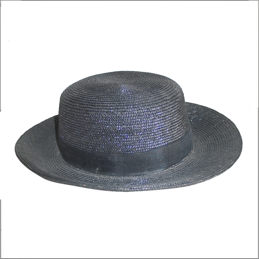 Early 1900s Black Regal Spear Company New York Chicago Straw Boys Summer Hat