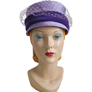 Vintage 1960s Lilac and Lavender Purple Bucket Hat