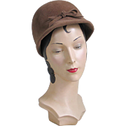 Authentic Vintage 1960s Mod Light Brown Go Go Hat Modern