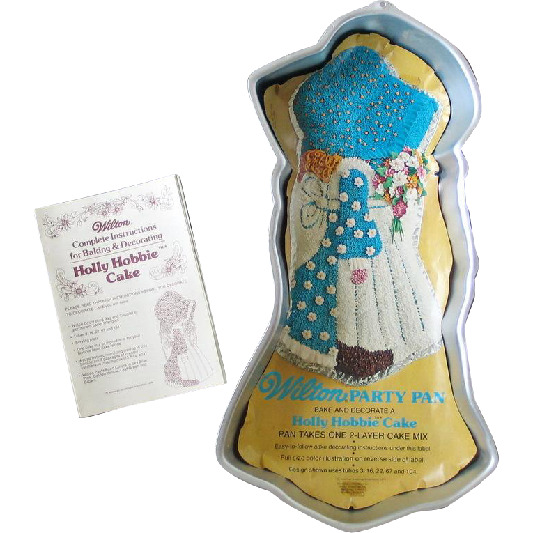 Vintage 1975 Holly Hobbie Cake Pan by Wilton WITH Instruction Guide