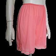 Vintage 1960s Coral Orange Vanity Fair Petti Pants Sleep Shorts M