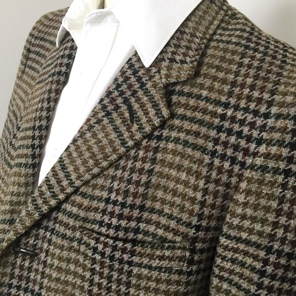 Vintage 1960s Pure Virgin Wool Houndstooth Plaid Sport Jacket from ...