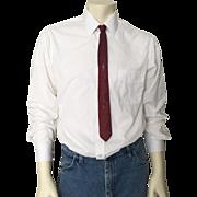 Vintage 1960s Wembley Skinny Red Gray Jacquard Necktie