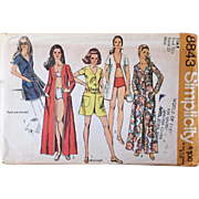 Vintage 1970s 1970 Swimsuit Swimwear Coverup Maxi Sewing Pattern by Simplicity 8843
