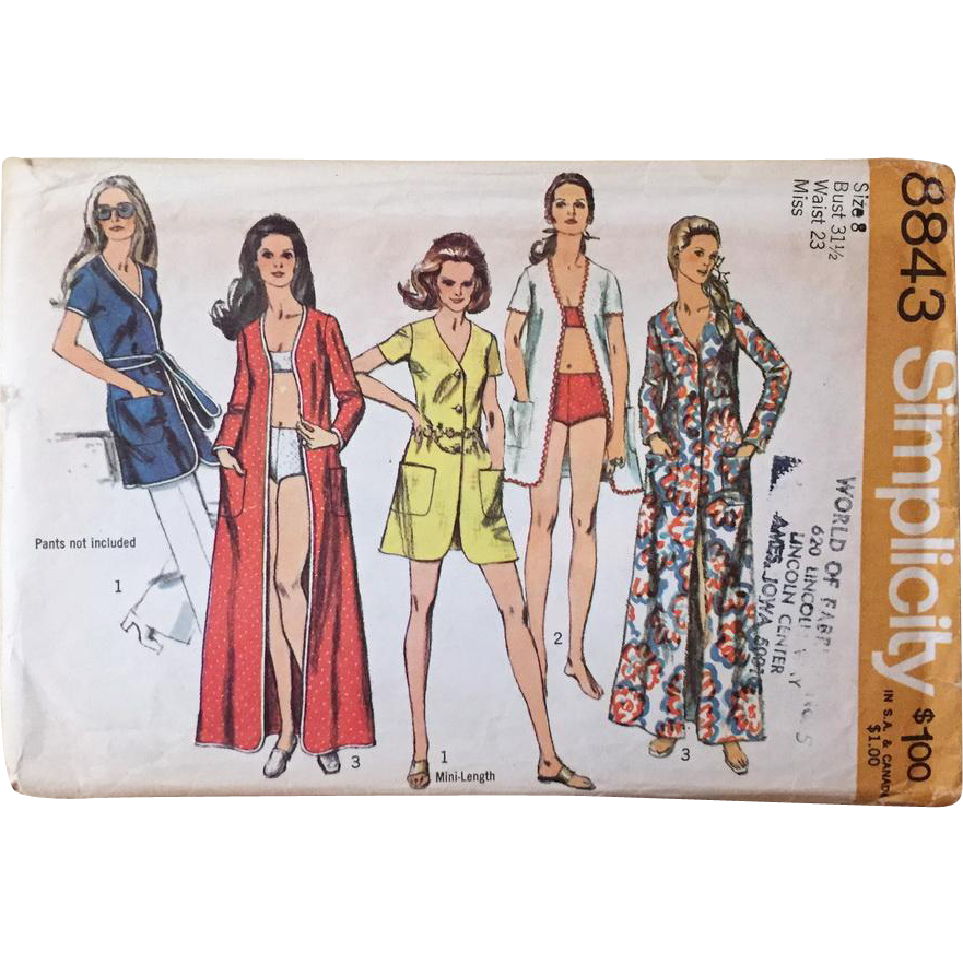 Vintage 1970s 1970 swimsuit swimwear coverup maxi sewing
