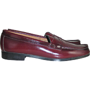 Vintage 1980s Dark Maroon Cordovan Wine Penny Loafers Colorado
