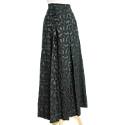 Vintage1960s Malbe Original  Black Novelty Weave Formal Evening Hostess Lounge Skirt XS S