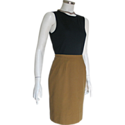 Vintage 1960s Patty Woodard California Mini Skirt with Polka dot lined Waistband XS S