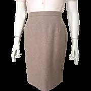 Vintage 1980s Escada Angora Wool Heathered Fawn Tan Margaretha Ley Super Soft Skirt 36 S