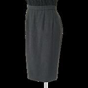 Vintage 1990s Dark Charcoal Gray Pendleton Straight Skirt M Petite