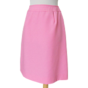 Vintage 1960s Cotton Candy Pink Twill Skirt S