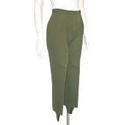 Vintage 1960s Jack Winter Olive Green Ski Pants Stirrup Pants Sportswear S M