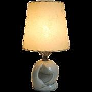 Vintage 1940s Concrete Gray Ceramic Lamp Round Ball