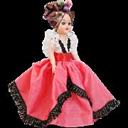 Vintage 1950s Hard Plastic Carmen Miranda Doll Dolls Of The World