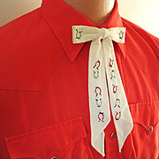 Vintage 1970s Poppy Red H Bar C Cowboy Western Rockabilly VLV Shirt
