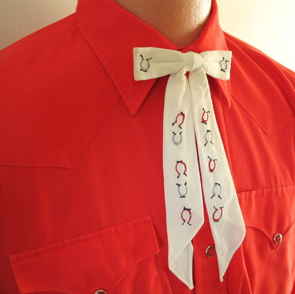 Vintage 1970s Poppy Red H Bar C Cowboy Western Rockabilly VLV Shirt