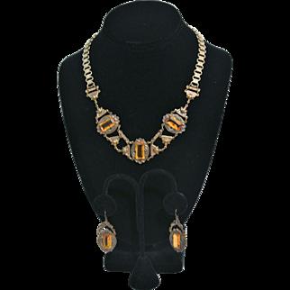 Vintage Sadie Green Victorian Style Necklace