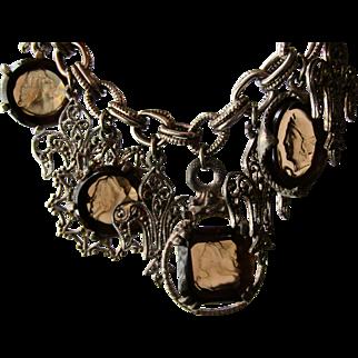 Vintage Intaglio Germany Charm Bracelet