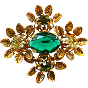 "Vintage ""Made In Austria"" Rhinestone Brooch Pin"