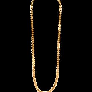 Vintage Monet Gold Tone Balls Extra Long Necklace