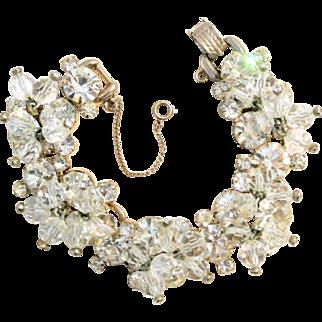 Vintage Juliana Crystals And Brilliant Rhinestones Bracelet