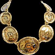 Vintage Elizabeth Taylor 22K Gold Plated Initial Necklace